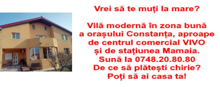 Vilă de vânzare, în zona bună a orașului Constanța